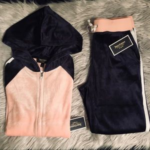 Juicy Couture Black Label Lightweight Velour Suit